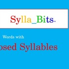 Closed Syllables SyllaBits Fluency Building Slideshow