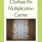 Clothes Pin Multiplication Center