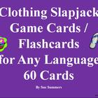 Clothing Slapjack Game Cards / Flashcards for Any Language