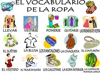 Clothing Vocabulary Activities & Games Unit in Spanish (La ropa)