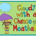 Cloudy With a Chance of Meatballs {Common Core Aligned Boo