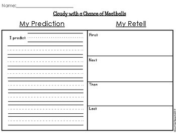 """Cloudy With a Chance of Meatballs"" Extension Activities"