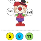 Clowns Count and Color Addition Activity