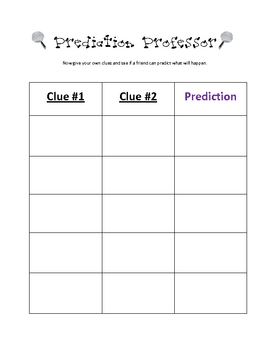 Clues to make predictions