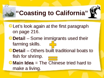 """Coasting to California"" Main Idea & Details - 3rd Grade"