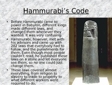 Code of Hammurabi & Law-Making Activity