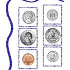 Coin - Change Money Math Center Folder Activity nickel dim