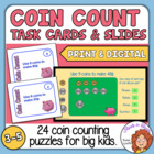 Coin Count Task Cards: 24 challenging coin counting puzzles