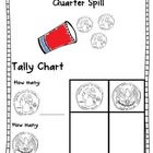 Coin Spill &amp; Tally Chart {quarter, penny, dime, nickel}