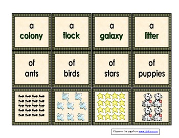Collective Nouns 2nd Grade Language Common Core Standards