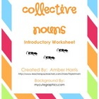 Collective Nouns Introductory Worksheet