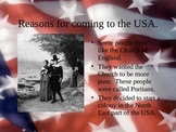 Colonial America and the Puritans Powerpoint 21 slides