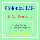 Colonist Packet - English Settlements &amp; Life in Colonies