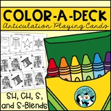 Color-A-Deck:  Articulation Playing Cards for S Blends, S,