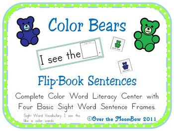 Color Bears Flip-Book Sentences