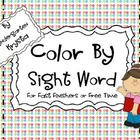 Color By Sight Word PLUS Templates