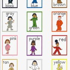 Color Cards with Diverse Characters