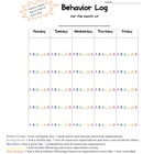 Color Coded Behavior Log