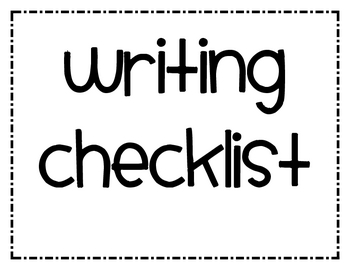 Color Coded Writing Checklist Posters
