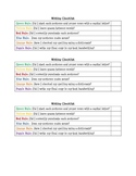 Color Coded Writing Checklist for Students