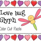 Color, Cut and Paste Love Bug Glyph