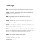 Color Lessons and Activities