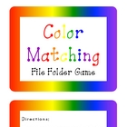 Color Matching File Folder Game