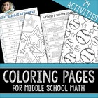 Color Math Middle School Math Topics Coloring Pages