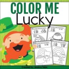 Color Me Lucky {12 Coloring Sheets with Addition and Sight Words}