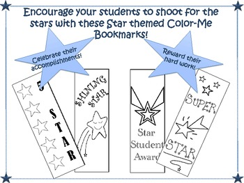 Color-Me Reward Bookmarks (Stars)