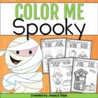 Color Me Spooky (10 Coloring Sheets for Sight Words and Te