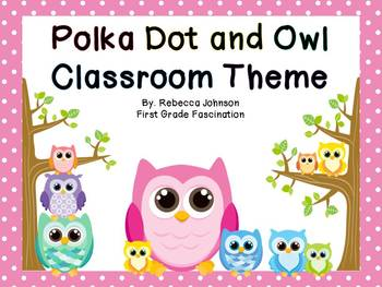 Color Owl and Polka Dot Calendar and Classroom Sign Super Pack