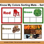 Color Sorting Mats Set #2