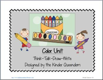 Color Unit   Think--Talk--Draw--Write