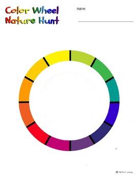 Color Wheel Nature Hunt