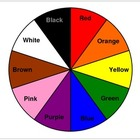 Color Wheel with Color Names - Fine Motor Skills, Matching