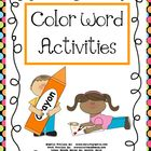 Color Word Activities