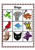 Color Word Bingo 2- Animal and Sign Language Options