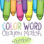 Color Word Crayon Match Game