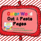 Color Word Cut & Paste Activities
