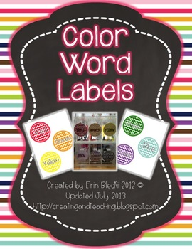 Color Word Labels