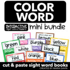 Color Word Mini Bundle of Interactive Sight Word Readers