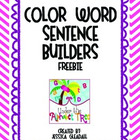Color Word Sentence Builders