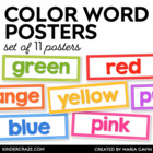 Color Words Classroom Signs {White Series}