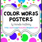 Color Words Posters {Polka Dots}