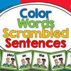 Color Words Scrambled Sentences