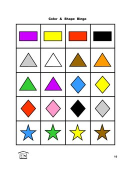 Color and Shape Bingo