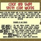 Color and Shape Secret Code Words