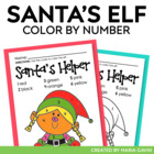 Color by Number Christmas Elf