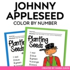 Color by Number Johnny Appleseed